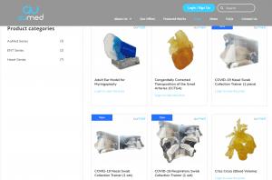 Screenshot of the AuMed Online Shop.